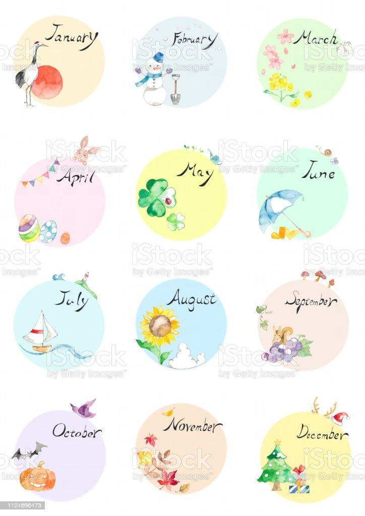 季節のカレンダー ベクターアートイラスト