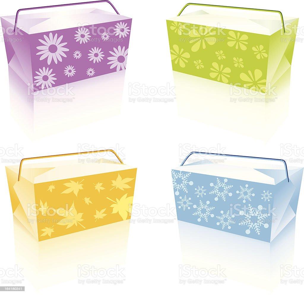 Seasonal Lunch Box royalty-free stock vector art
