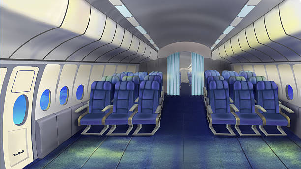 Best Airplane Interior Illustrations Royalty Free Vector