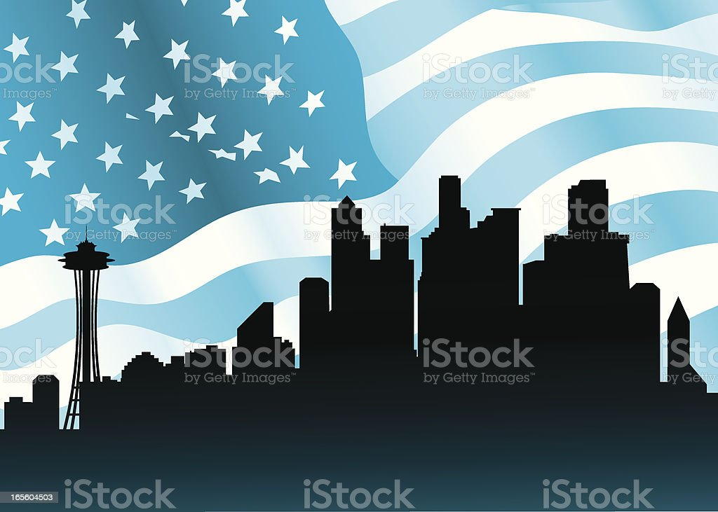 Seattle, USA royalty-free stock vector art