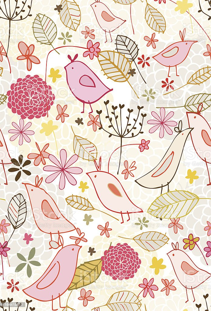 Secret Garden Two Seamless Pattern royalty-free secret garden two seamless pattern stock vector art & more images of aviary
