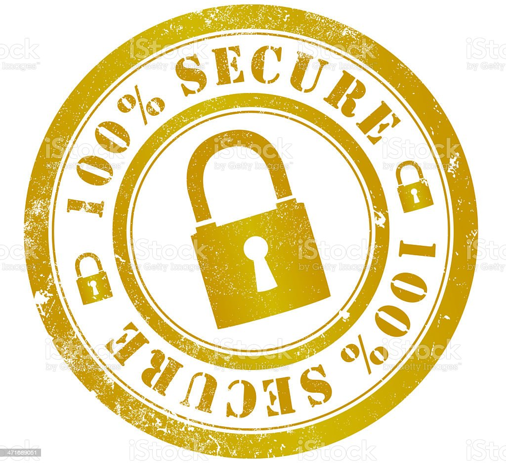 100% secure stamp royalty-free 100 secure stamp stock vector art & more images of closed