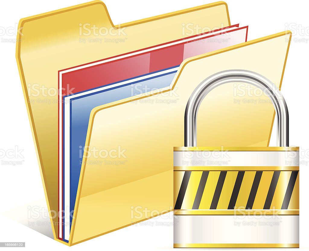 Secured Folder royalty-free stock vector art