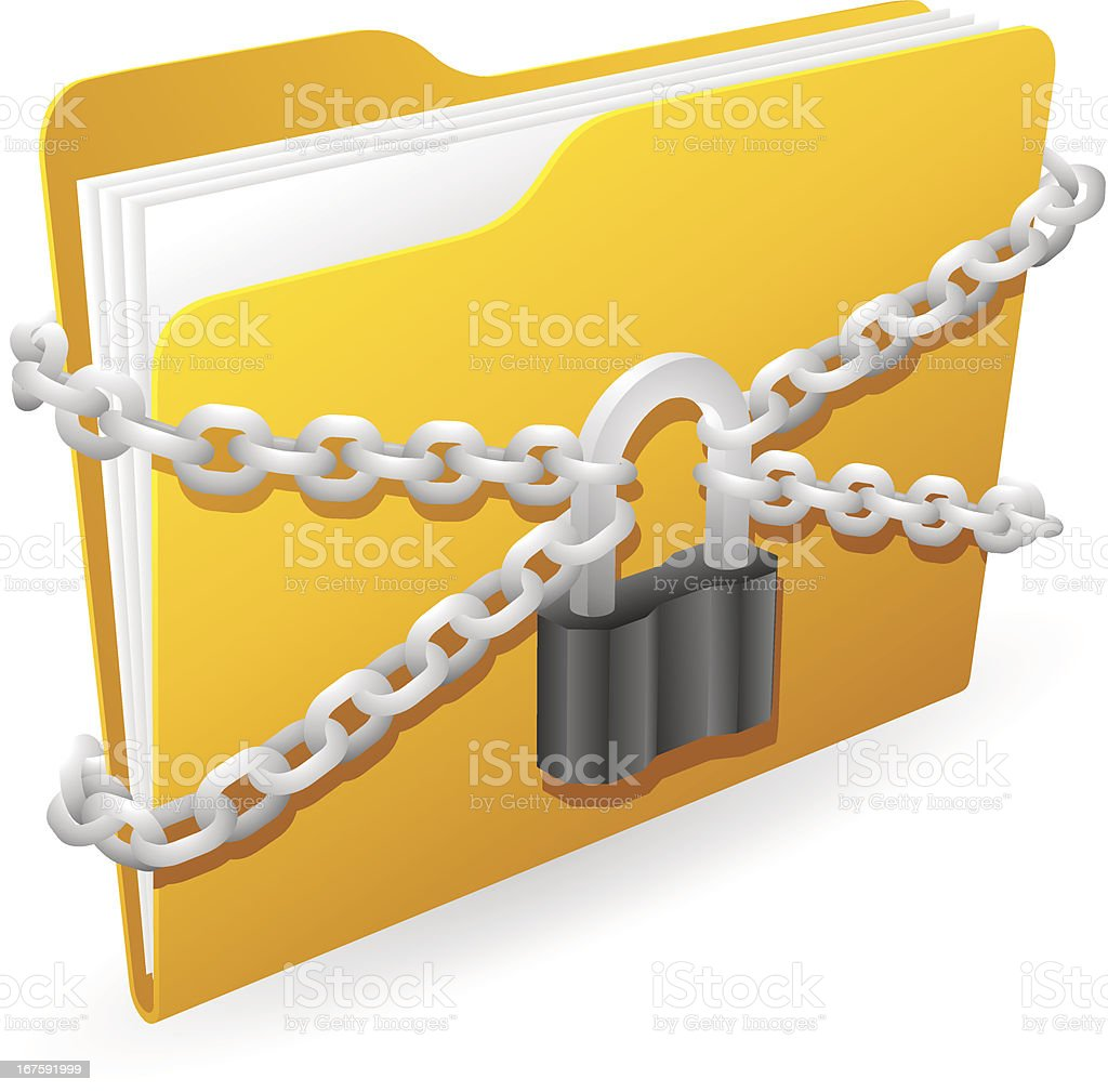 Secured Folder royalty-free stock vector art