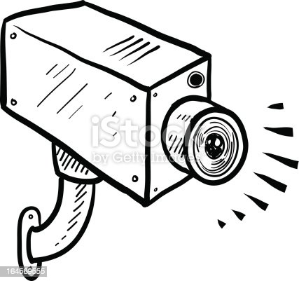Cctv Security Camera Vector Sketch Stock Vector Art & More