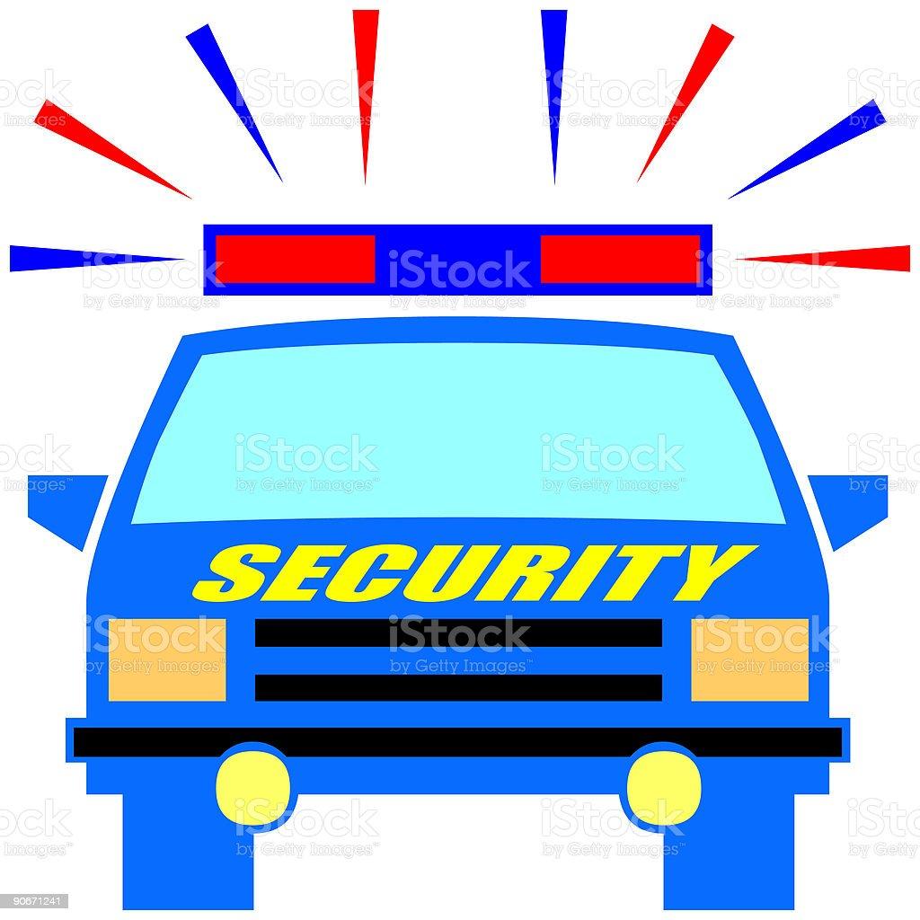 Security car - vector royalty-free stock vector art