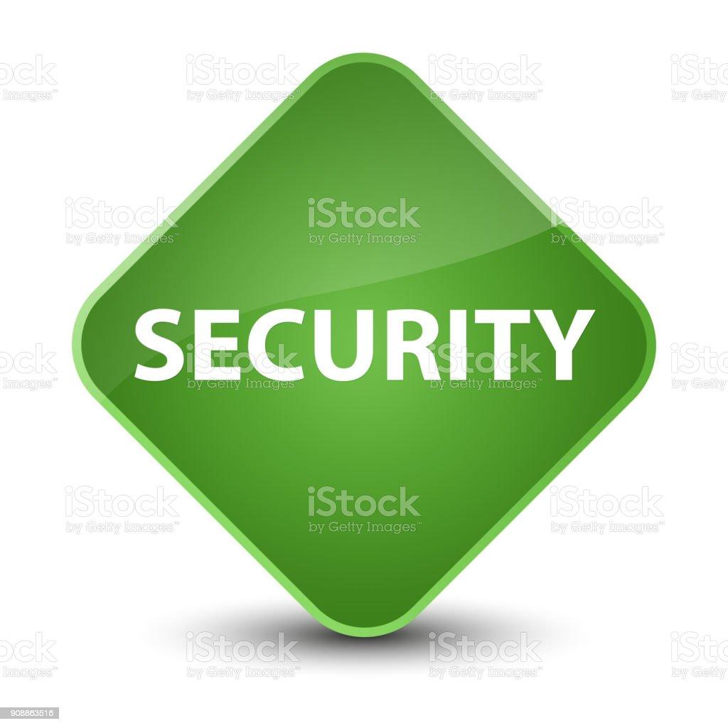 Botón De Seguridad Elegante Diamante Verde Suave - Arte vectorial de ...