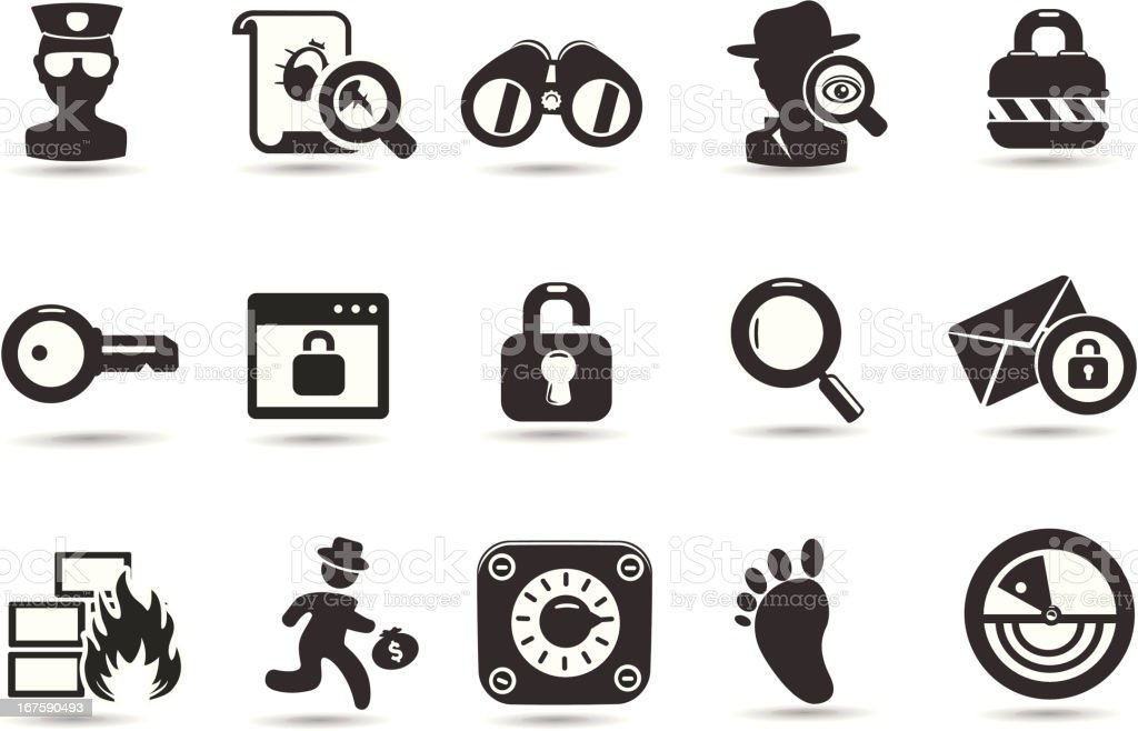 Security Symbols vector art illustration