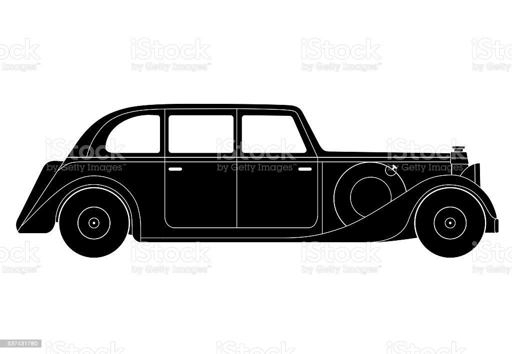 Sedan Vintage Model Of Car Stock Vector Art & More Images of Arts ...