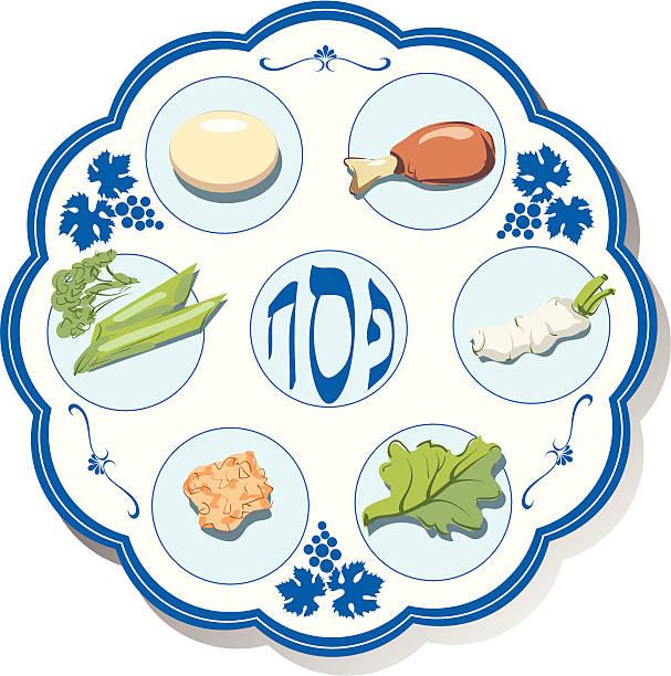 Seder plate Seder plate seder plate stock illustrations
