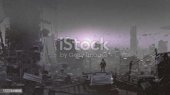 istock see the sunset in the apocalyptic world 1222345655