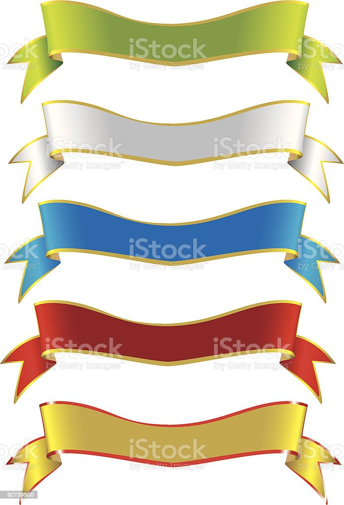 Selection of Ribbons (VECTOR) royalty-free selection of ribbons stock vector art & more images of advertisement