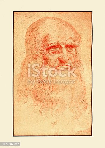 istock Self Portrait of Leonardo Da Vinci 520787037