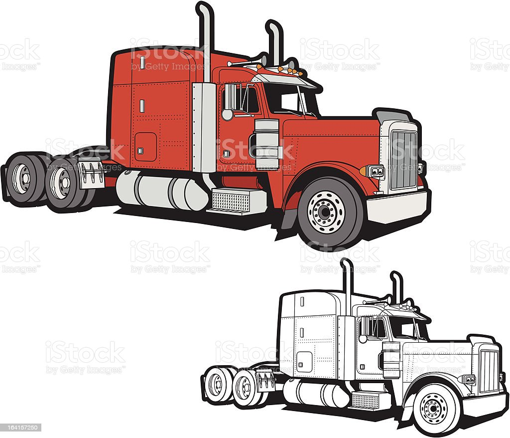 Semi Truck royalty-free stock vector art