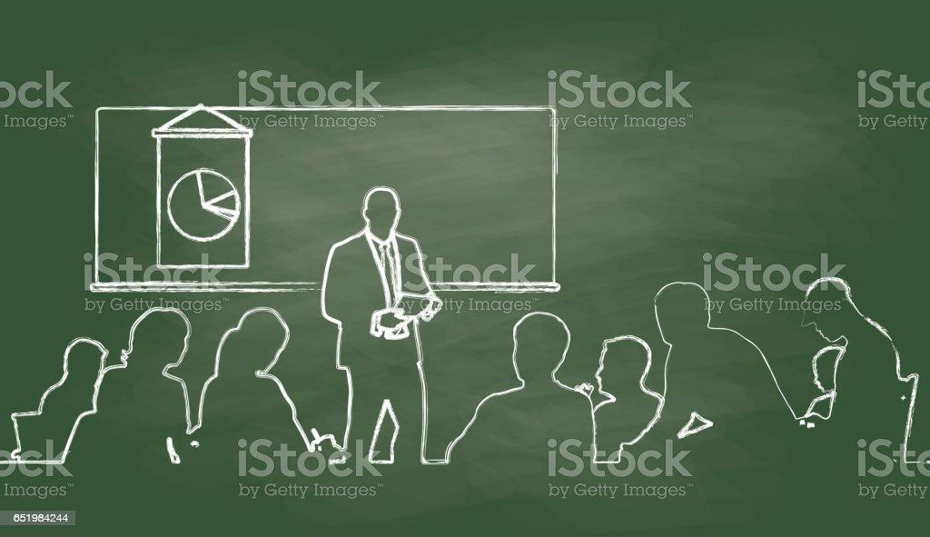 Seminar Presentation vector art illustration