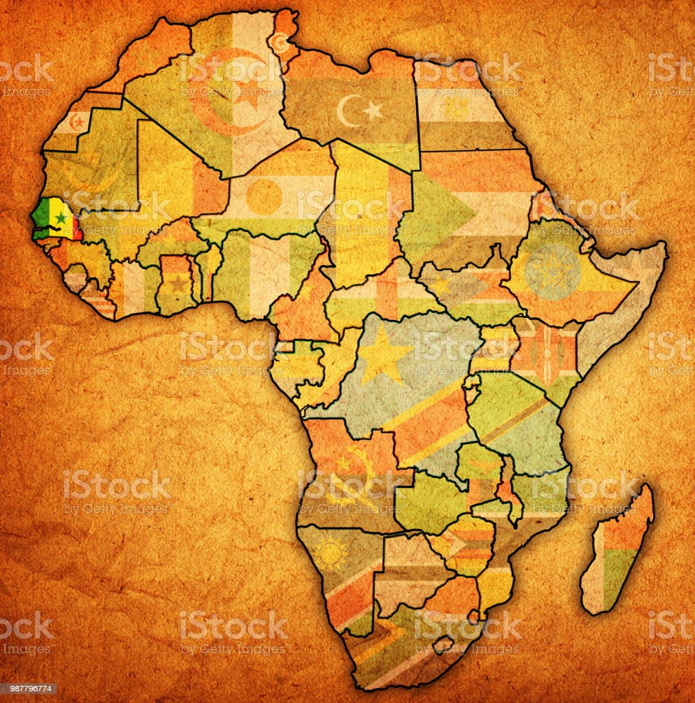 Map Of Africa Senegal.Senegal On Political Map Of Africa Stock Illustration Download