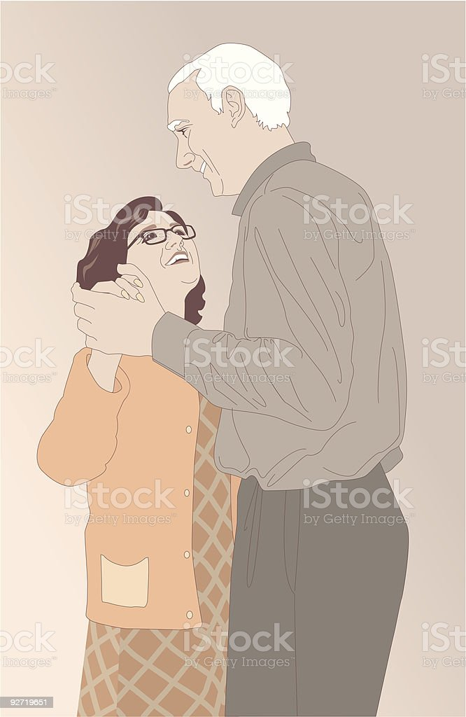 Senior Couple royalty-free stock vector art