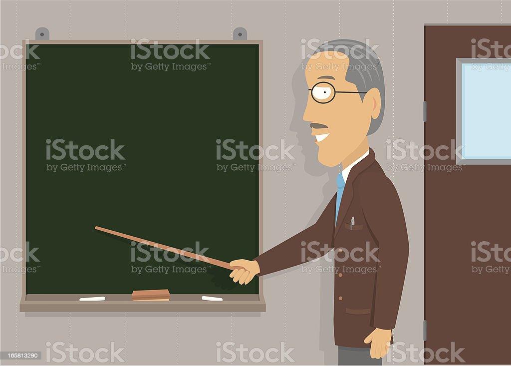 Senior man teaching / Copyspace royalty-free stock vector art