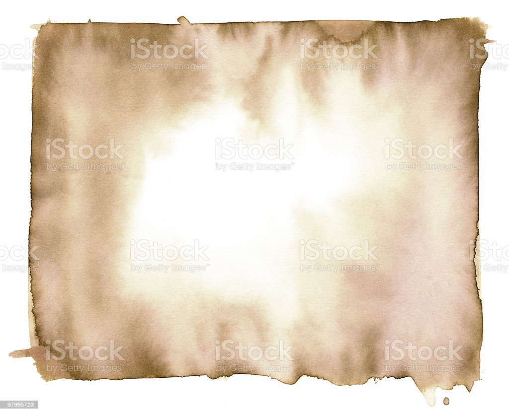 Sepia toned, watercolor background. vector art illustration