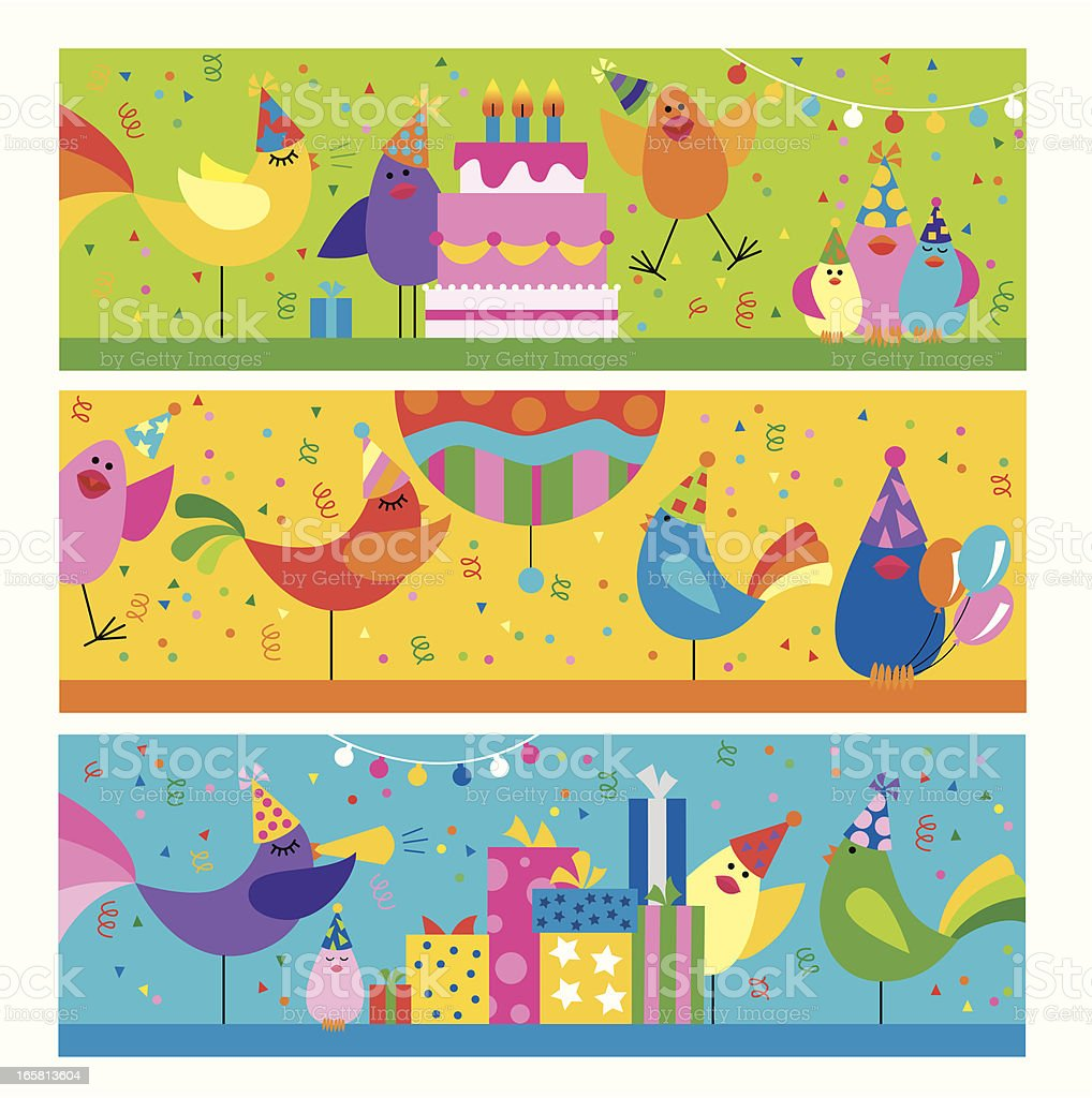 Sequence of birds at a birthday party royalty-free sequence of birds at a birthday party stock vector art & more images of animal
