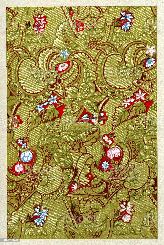 Serpentine Pattern 17th Century royalty-free stock vector art