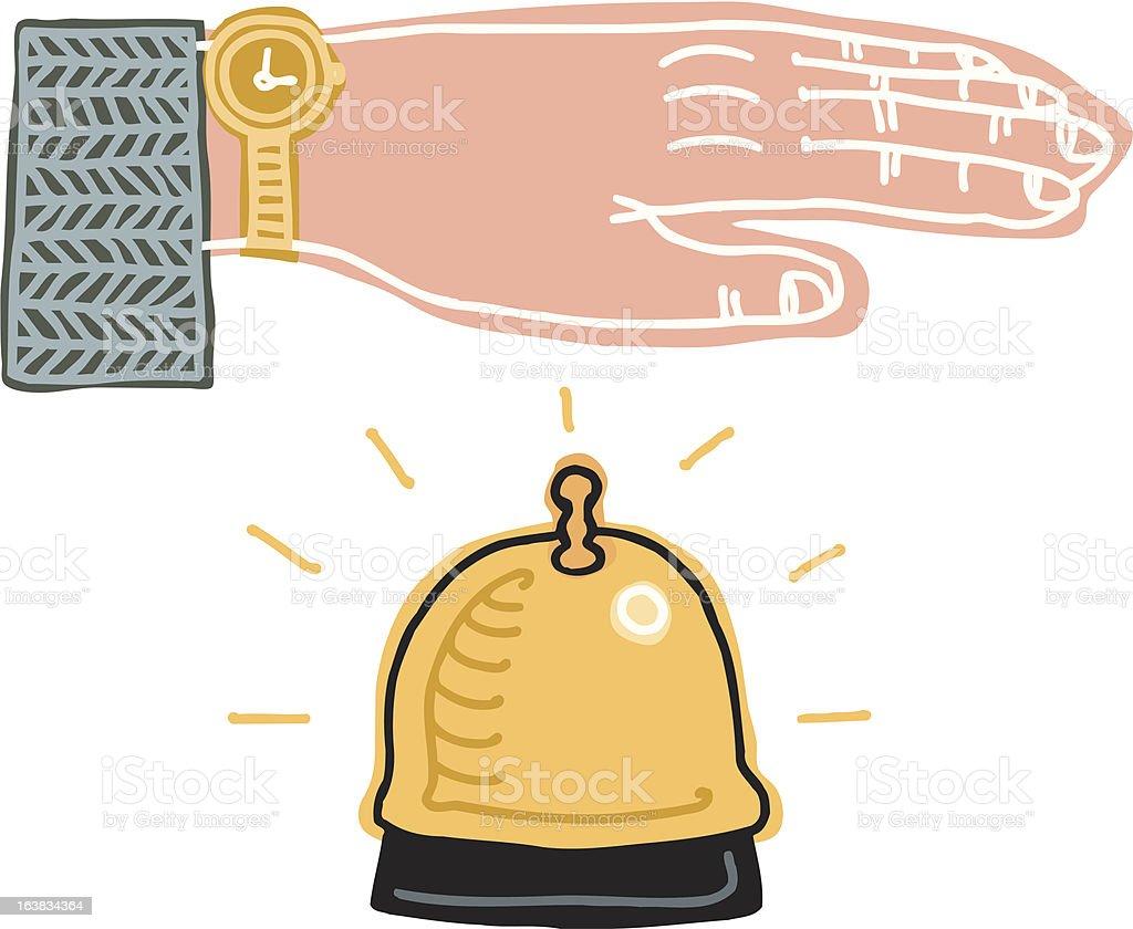 Service Please vector art illustration