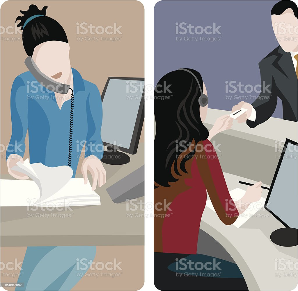 Service Worker Illustrations Series vector art illustration
