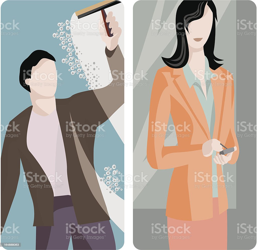 Service Worker Illustrations Series royalty-free service worker illustrations series stock vector art & more images of activity