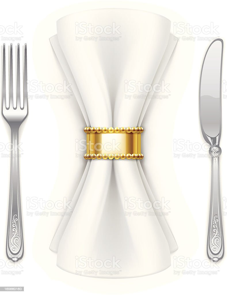 Serviette, fork and table knife royalty-free serviette fork and table knife stock vector art & more images of cut out