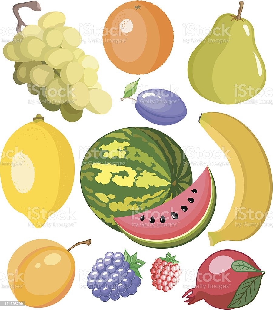 Set fruits royalty-free set fruits stock vector art & more images of apricot