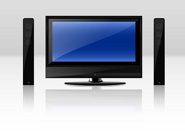 TV Set vector art illustration