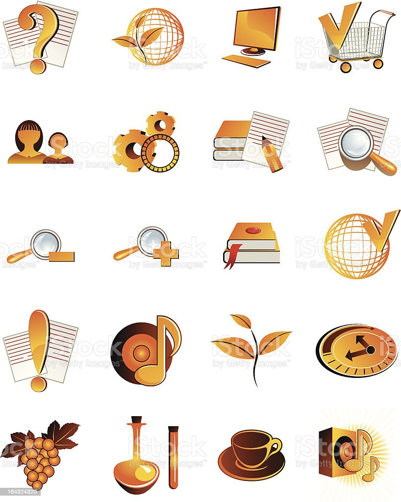 Set of 20 web icons royalty-free stock vector art