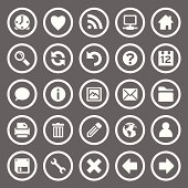 Set of 25 simple round icons