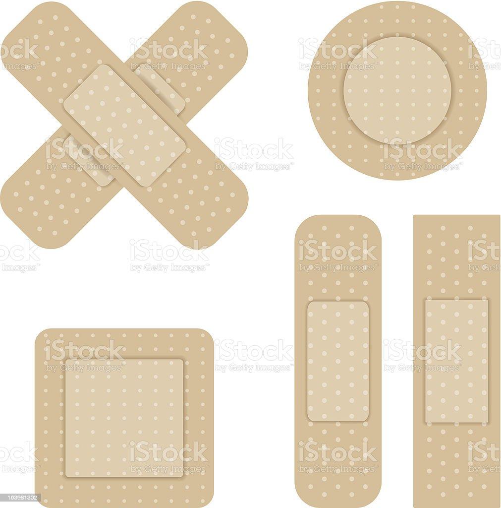 Set of Adhesive bandage vector art illustration