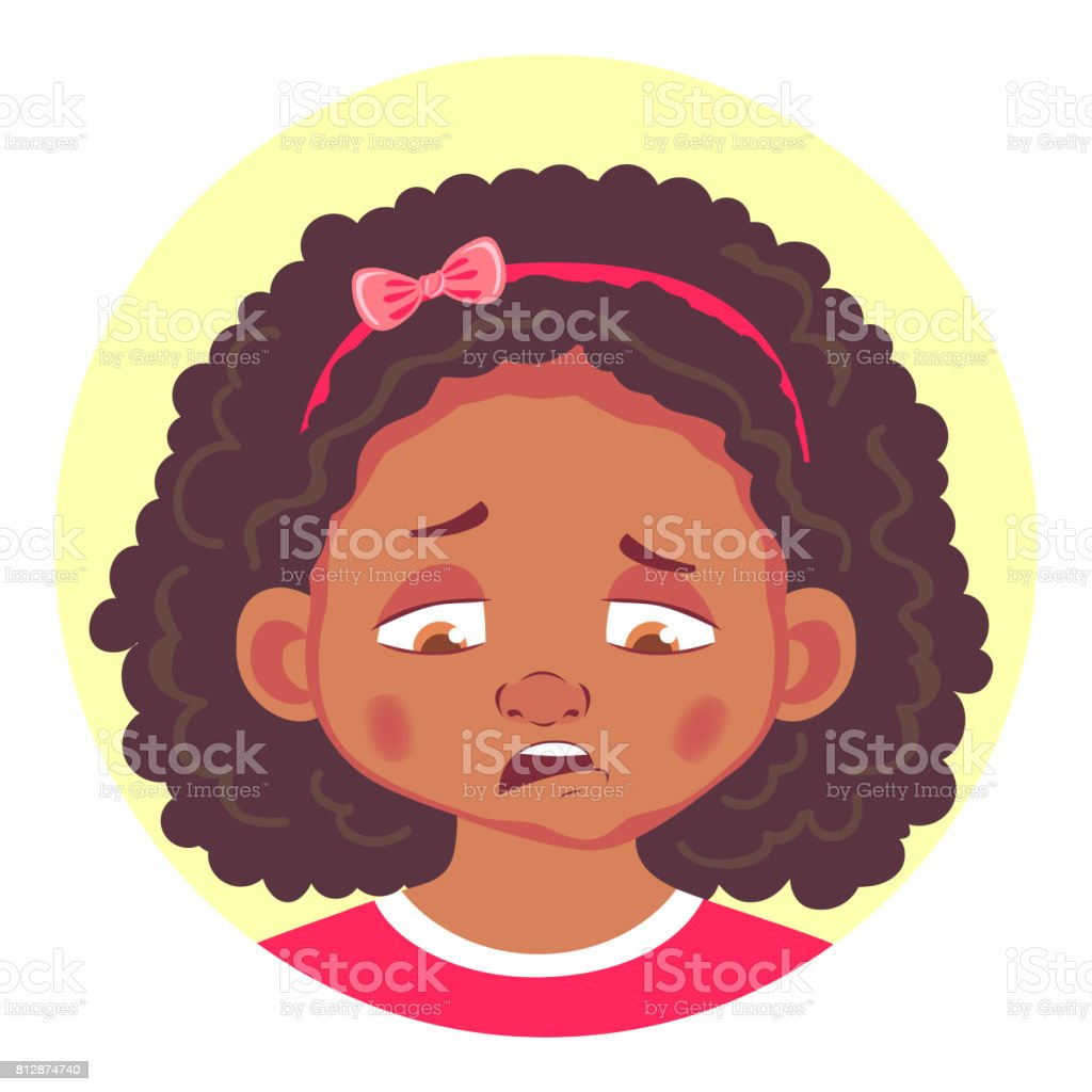 royalty free frown girl clip art vector images illustrations istock rh istockphoto com frown clipart black and white frown mouth clipart