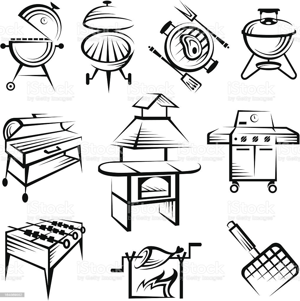 set of barbecue design royalty-free stock vector art