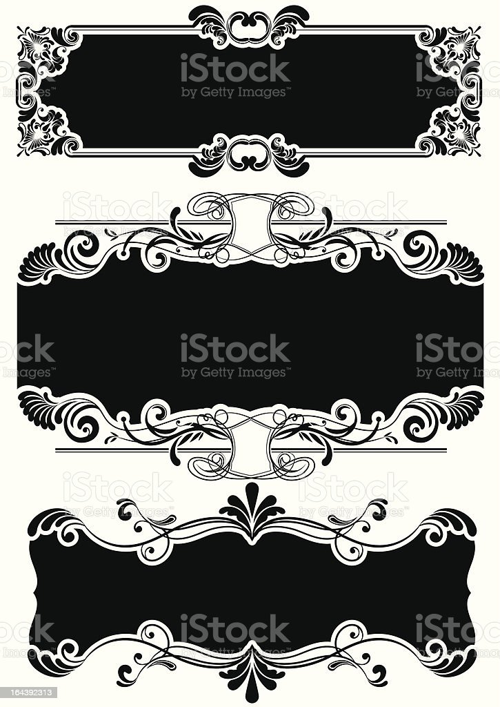 Set of black frames royalty-free set of black frames stock vector art & more images of ancient