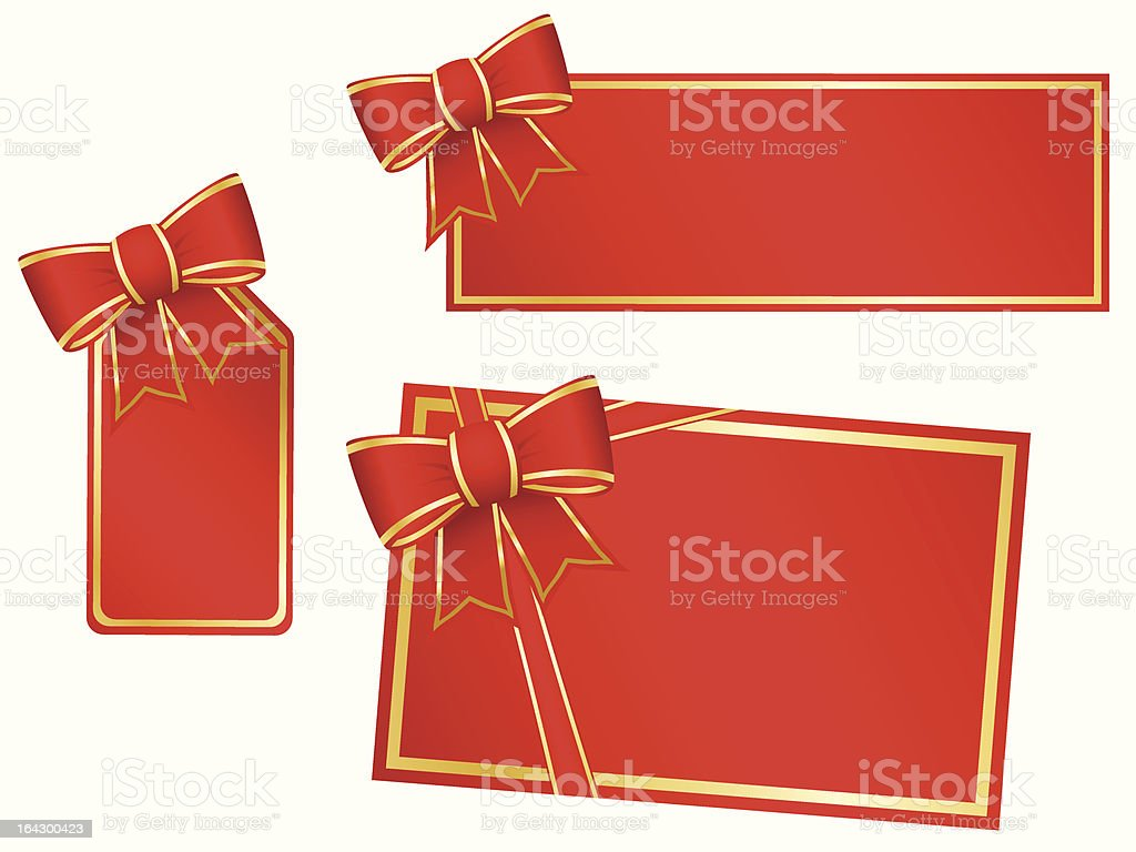 Set of blank gift cards royalty-free stock vector art