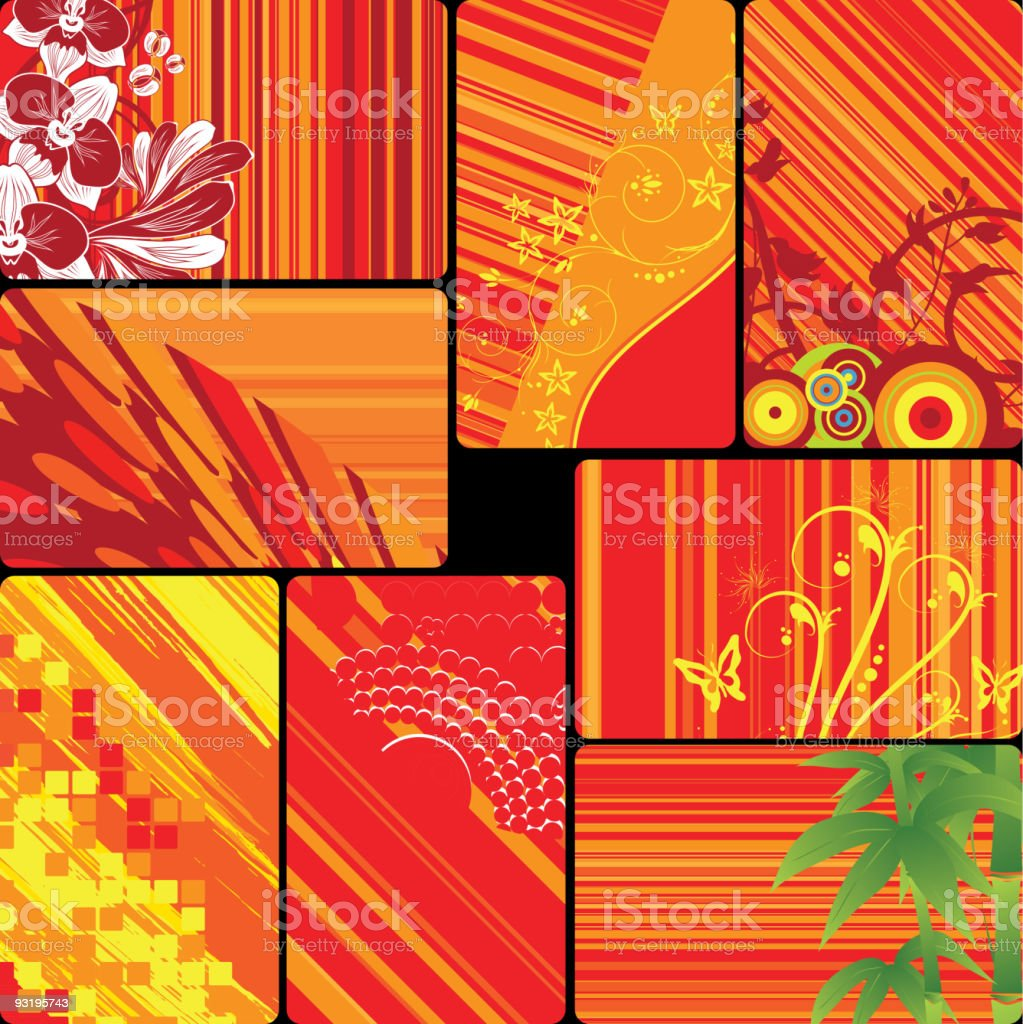 Set of cards royalty-free stock vector art