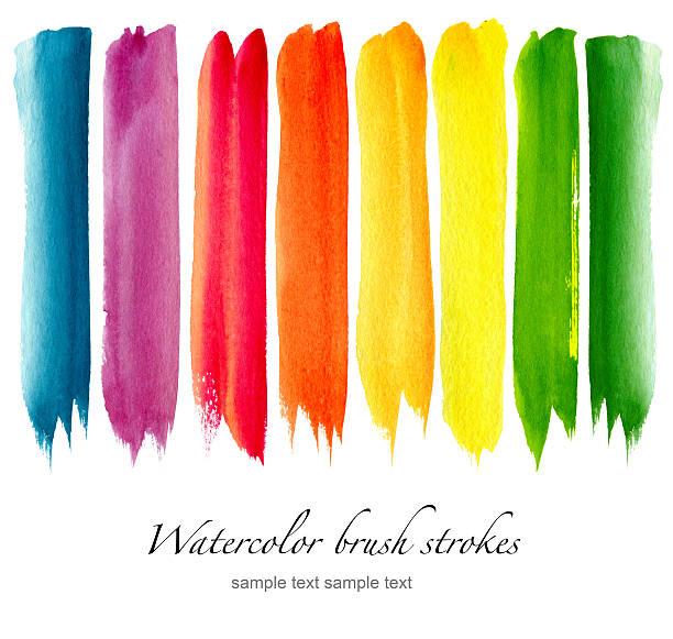 セットのカラフルな水彩画の筆 - ブラシ点のイラスト素材/クリップアート素材/マンガ素材/アイコン素材