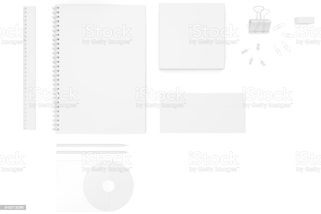 Set of corporate identity templates. 3d rendering vector art illustration