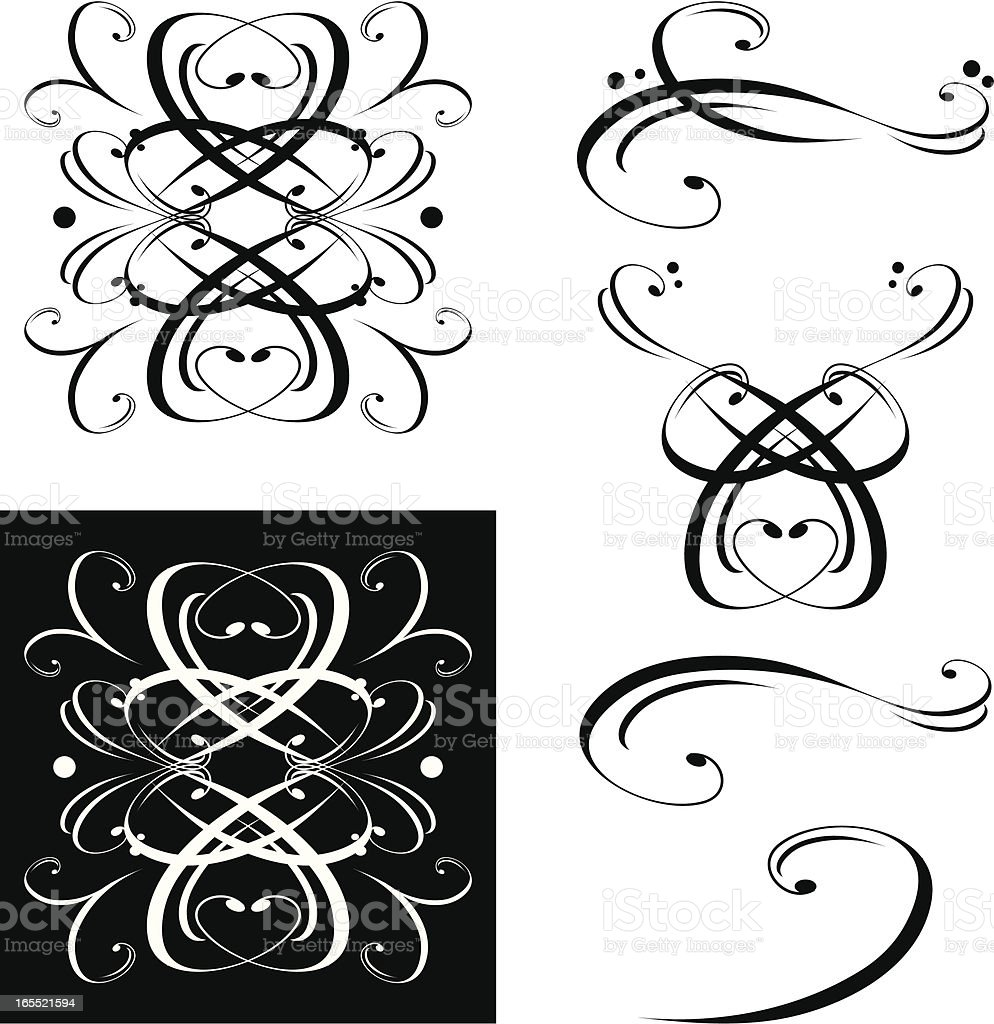 Set of Decorative Flourishes / Embellishments royalty-free set of decorative flourishes embellishments stock vector art & more images of backgrounds