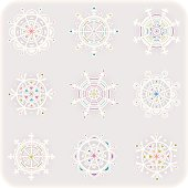 Set of elegant snowflakes. Winter Time. Idea for you! Vector.