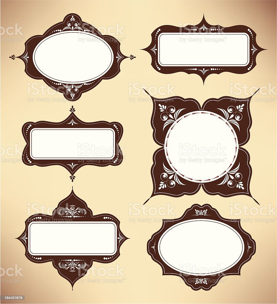 set of design elements royalty-free stock vector art