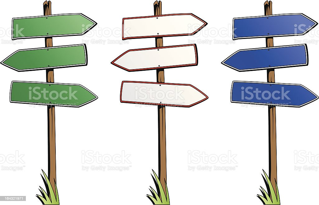 Set of direction signs isolated on white background royalty-free set of direction signs isolated on white background stock vector art & more images of advice