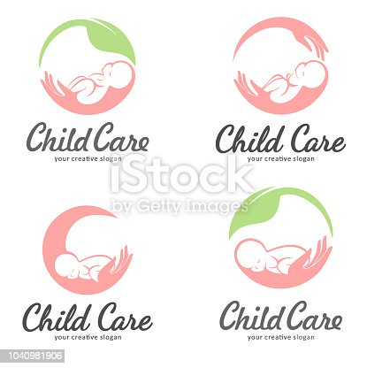 Vector design concept. Baby care icon, motherhood and childbearing