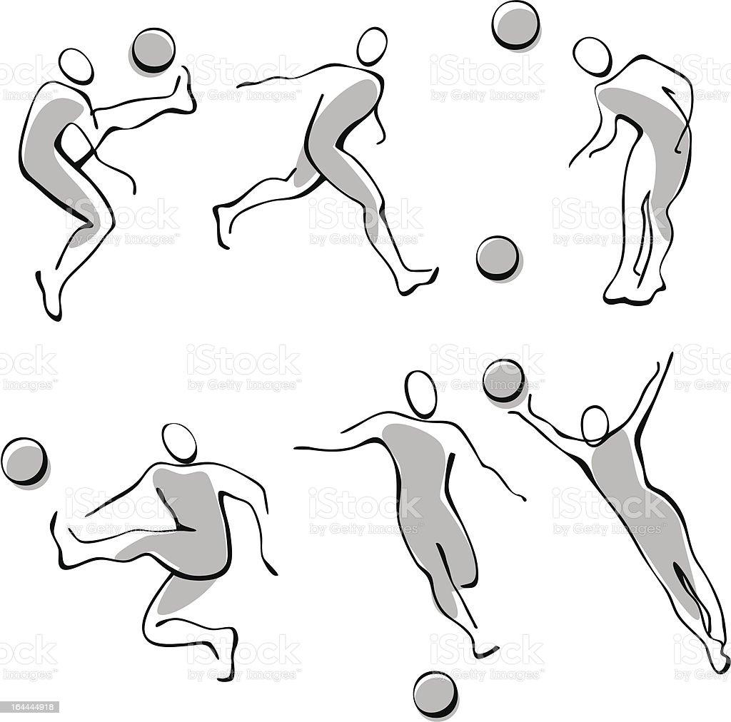 Set of football icons royalty-free stock vector art