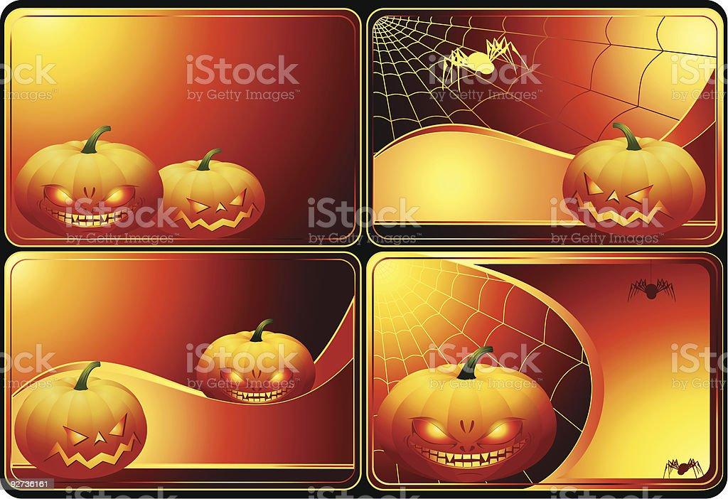 Set of Halloween cards - Royalty-free Autumn stock vector