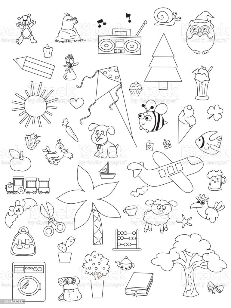 set of hand drawn kids royalty-free set of hand drawn kids stock vector art & more images of airplane