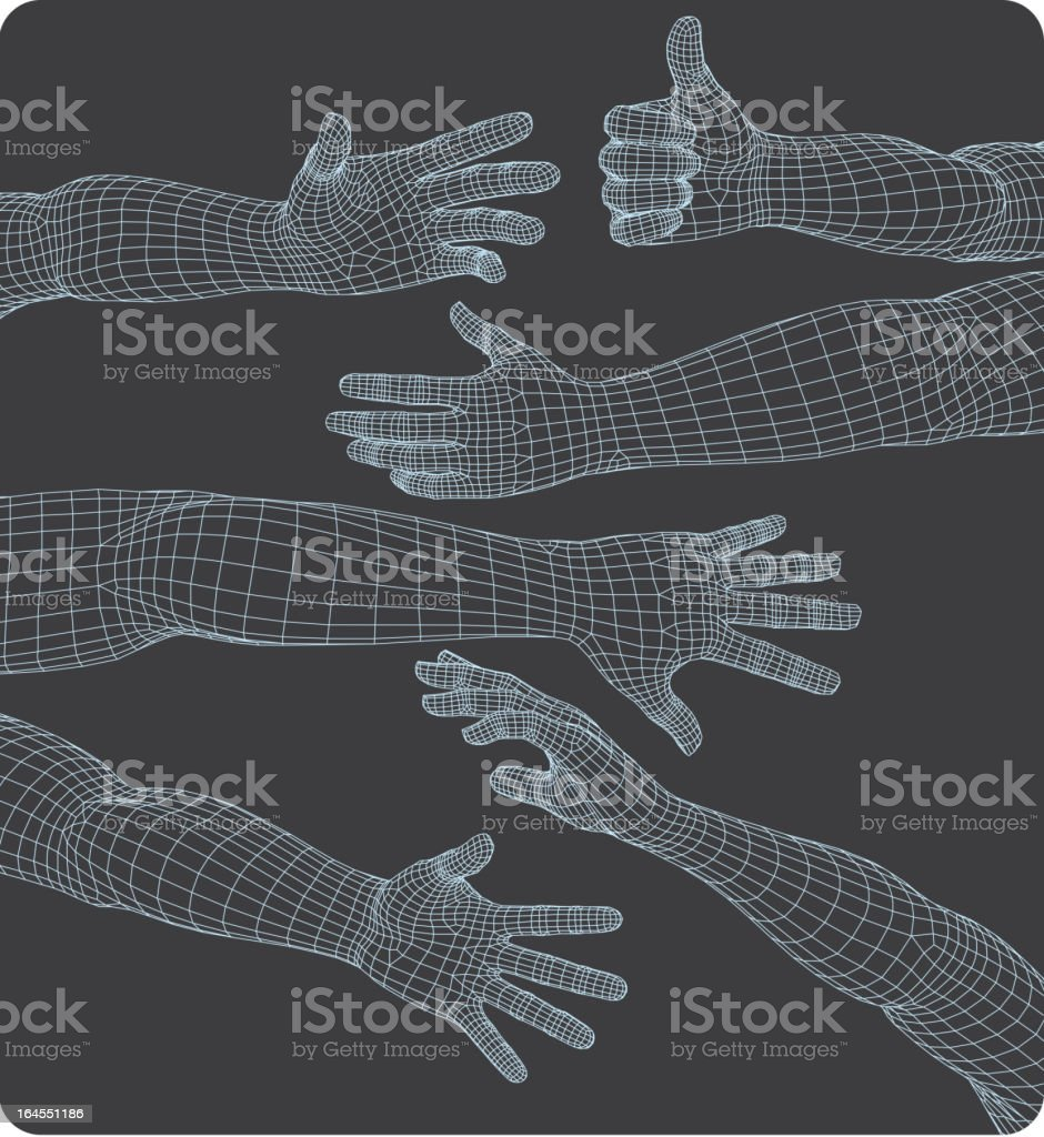 Set of hands royalty-free stock vector art